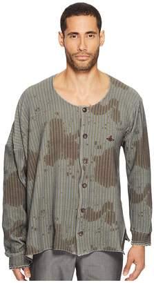 Vivienne Westwood Jiggle Ticking Print Shirt Men's Clothing