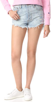 One Teaspoon Blue Hart Outlaw Shorts $109 thestylecure.com
