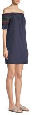 Trina Turk Smocked Off-The-Shoulder Dress