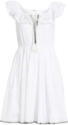 8ea55655fa9f Miu Miu Cotton Poplin Pom-Pom Dress