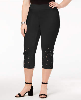 INC International Concepts I.n.c. Plus Size Grommeted Cropped Pants, Created for Macy's