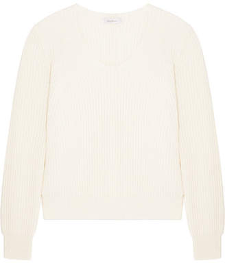 Max Mara Ribbed Wool And Cashmere-blend Sweater - Ivory