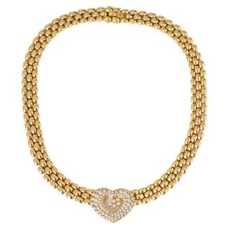 Happy Diamonds yellow gold necklace