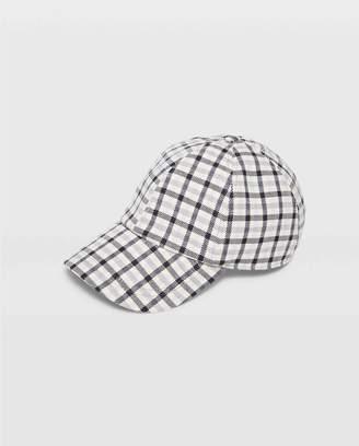 Club Monaco Hat Attack Plaid Baseball Cap