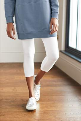 Next Womens White Cropped Leggings - White