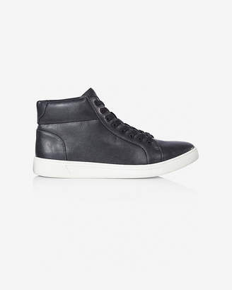 Express Black High Top Lace Up Sneaker