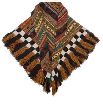 Etro Striped Wool Blend Scarf - Womens - Multi