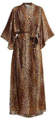 Melissa Odabash Jules Leopard Print Kimono Kaftan - Womens - Leopard
