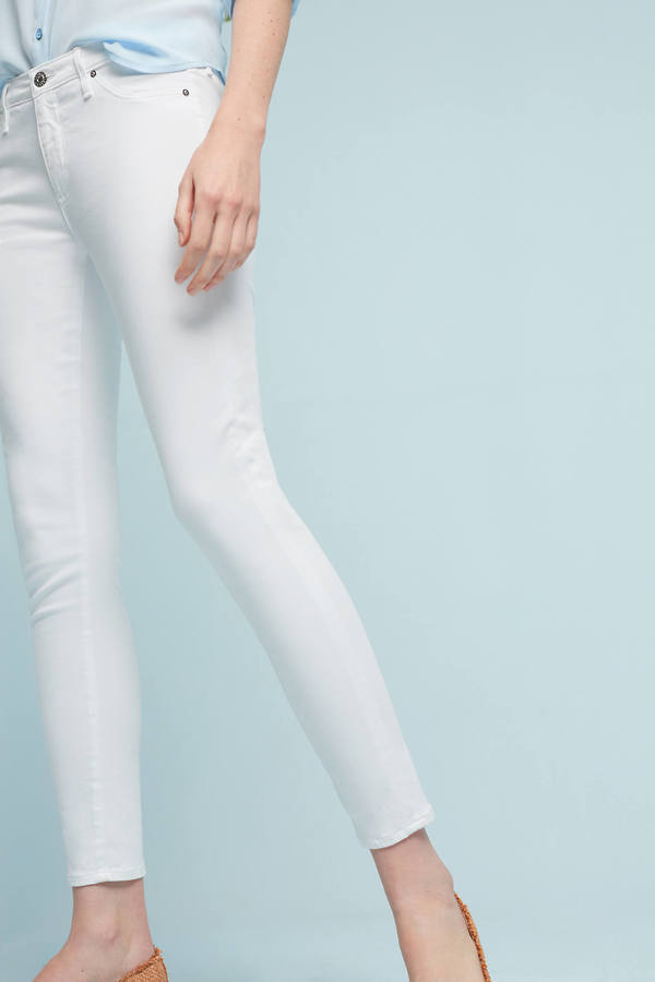 AG Jeans AG Abbey Sateen Mid-Rise Skinny Ankle Jeans