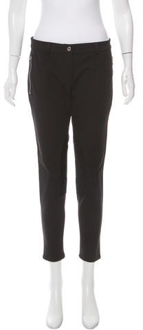 MICHAEL Michael Kors Michael Kors Leather-Accented Skinny Pants