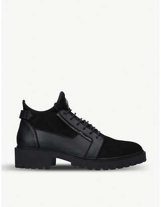 Giuseppe Zanotti Tyson chunky suede and leather boots