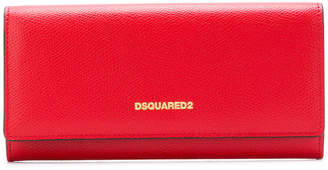 DSQUARED2 logo foldover wallet