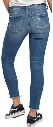 Silver Jeans Women's Calley Slim Fit Mid-Rise Ankle Skinny