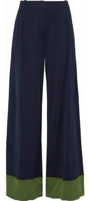 Tomas Maier Two-Tone Jersey Wide-Leg Pants