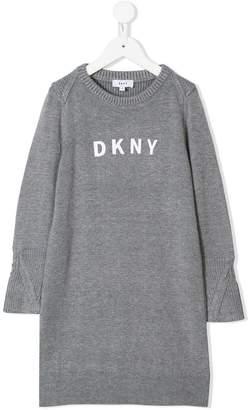 DKNY logo print jumper dress