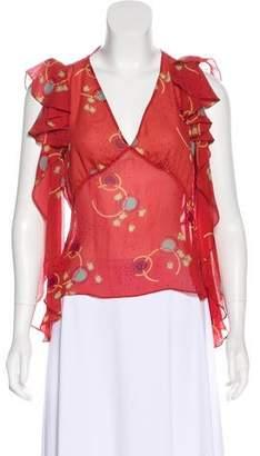 Marc Jacobs Ruffled Silk Blouse