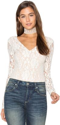Ella Moss Trello Lace Bodysuit $158 thestylecure.com