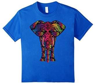 Ornate t shirts: Colorful elephant shirt -