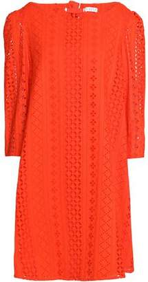 Claudie Pierlot Tie-back Pointelle-knit Cotton Dress