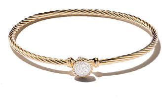 David Yurman 18kt yellow gold Petite Pavé diamond bangle