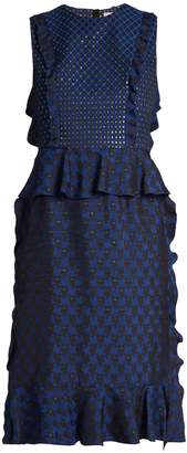 Lanvin Ruffled jacquard dress
