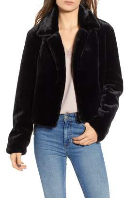 Blank NYC BLANKNYC Cropped Faux Fur Jacket