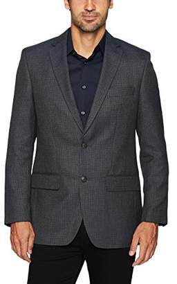 Haggar Men's Multi Check Tailored Fit Center Vent Sport Coat