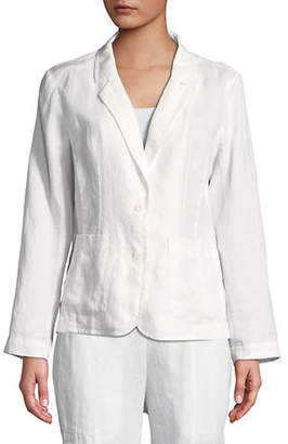 Eileen Fisher Linen Notch Collar Blazer