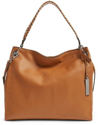 Vince Camuto Nadja Leather Hobo - Brown $258 thestylecure.com