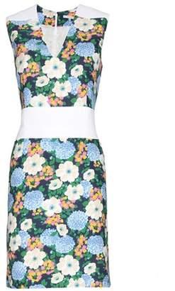 Carven Floral-printed crepe dress