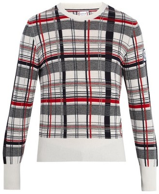 Moncler Gamme Bleu Checked Cashmere Sweater - Mens - Multi
