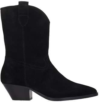 Ash Foxy Ankle Boots In Black Suede