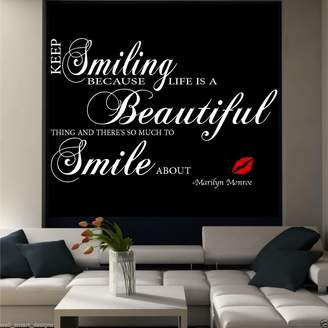 Monroe Wall Smart Designs Marilyn Smile Room wall art quote sticker mural decal transfer print