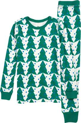 J.Crew crewcuts by Tree Print Fitted Two-Piece Pajamas