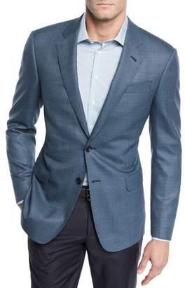 Giorgio Armani Men's Micro-Dot Wool Two-Button Jacket