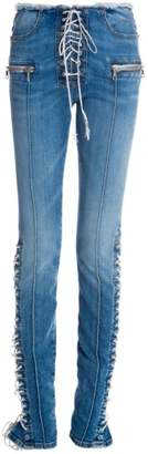 Unravel Project Stone Lace-Up Jeans