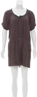 Rebecca Taylor Textured Silk Mini Dress