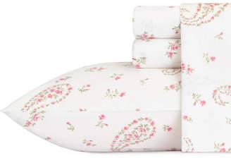 Laura Ashley Queen Bristol Paisley Pink Sheet Set Bedding