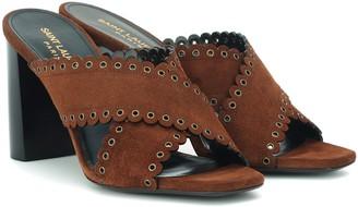 Saint Laurent Loulou 95 suede sandals