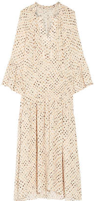 Ulla Johnson - Lotte Printed Silk Crepe De Chine Maxi Dress - Beige $600 thestylecure.com