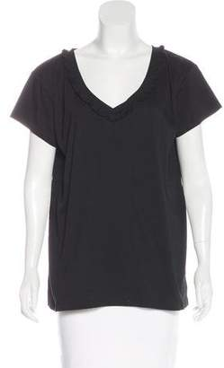 Thomas Wylde Short Sleeve V-Neck Top w/ Tags