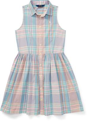 Ralph Lauren Madras Sleeveless Shirtdress