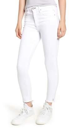 McGuire Split Hem High Waist Ankle Skinny Jeans