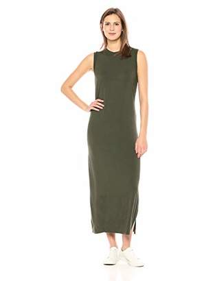 Amazon Brand - Daily Ritual Women's Jersey Mock-Neck Maxi Dress