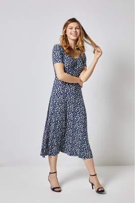 30f7957d6131 Dorothy Perkins Womens Jersey Floral Midi Dress - Blue