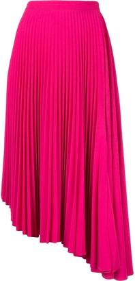 Markus Lupfer asymmetric pleated skirt