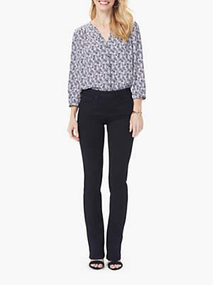 NYDJ Barbara Petite Bootcut Jeans, Black