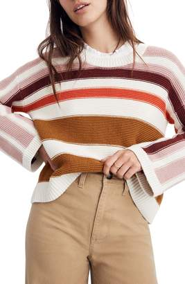 Madewell Valleyscape Stripe Pullover Sweater