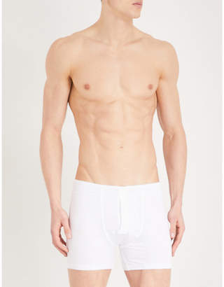 Hanro Slim-fit stretch-cotton trunks