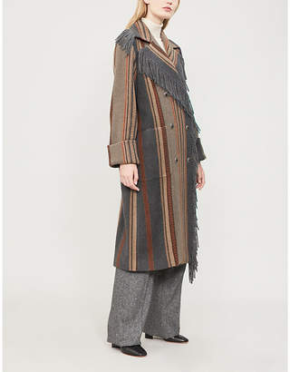 Etro Striped wool-blend coat